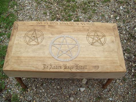 Wiccan Altar Table by Pagan Wiccan Symbols Altar For Ritual Ceremony Or