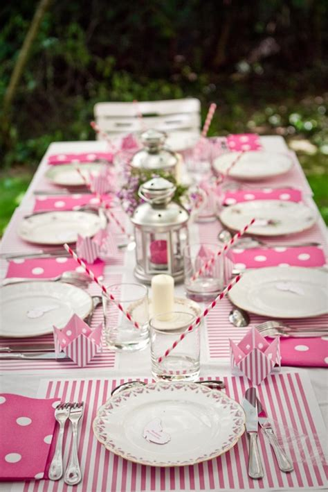 pink table settings pink picnic table setting events tables