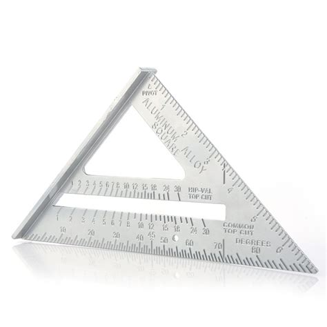 aluminum alloy woodworking triangle ruler metric