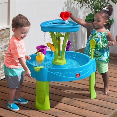 2 showers water table step2 summer showers splash tower water table 35 96