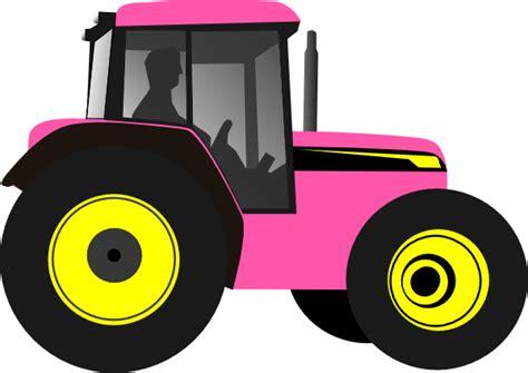Tractor pinkyellow clip art at clker com vector clip art online royalty free amp public domain