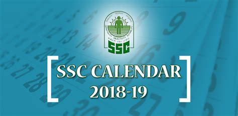 staff selection commission annual calendar  examinations tentative   held