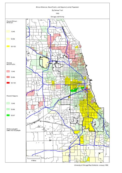 chicago city limits map chicago 1990 census maps