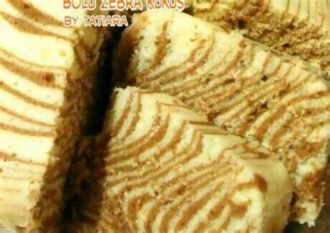 resep membuat roti zebra kukus resep bolu zebra kukus