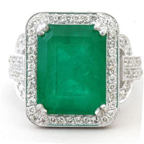 8 52ctw emerald cut emerald diamonds antique style