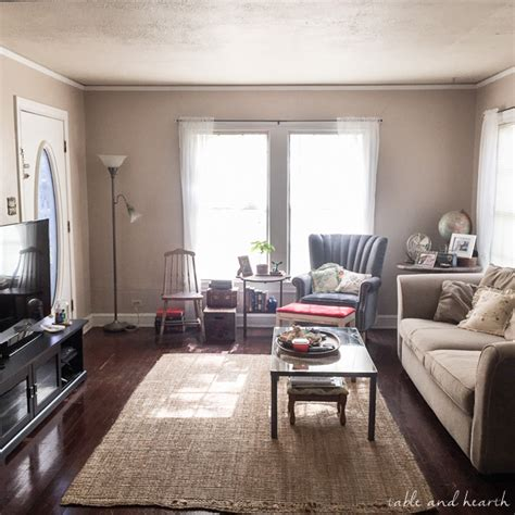 Eclectic Vintage Living Room by An Eclectic Vintage Living Room Makeover Part I Table