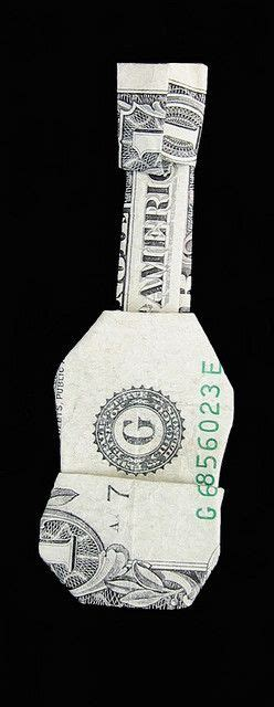 Origami Guitar Dollar Bill - ornament money origami guitar origami and papercraft