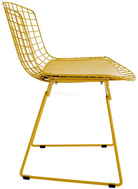 Yellow Wire Chair by Harry Bertoia Style Wire Dining Side Chair Coloured