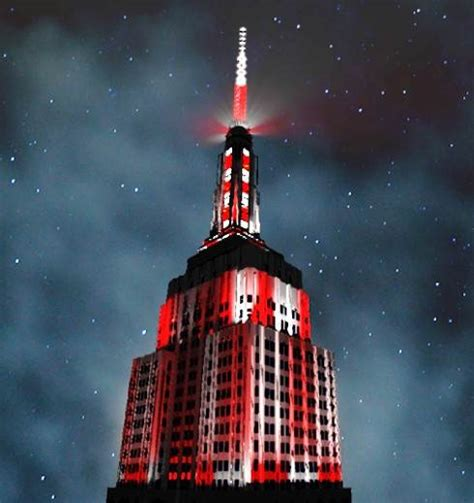 empire state lights today catch empire state building s first ever christmas light