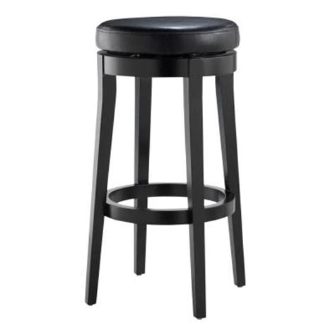 home decorators bar stools home decorators collection backless black 30 in h swivel