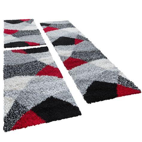 bettumrandung teppich shaggy l 228 ufer bettumrandung hochflor teppich vigo in rot