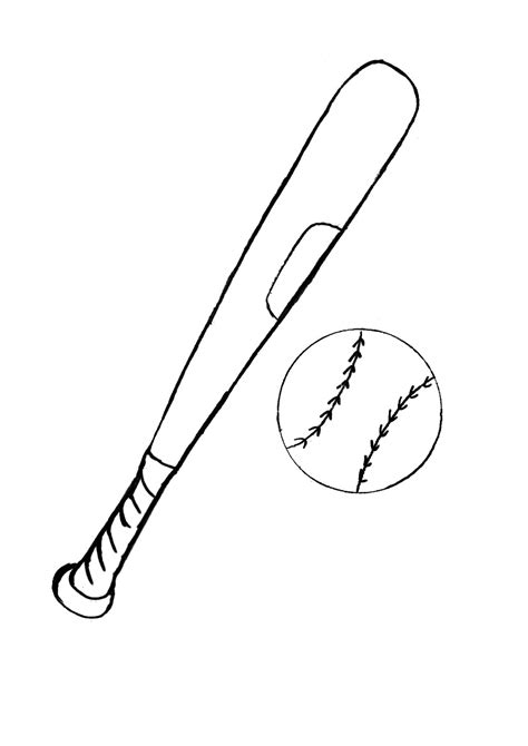 draw baseball bat coloring page 65 for your coloring