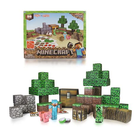 Minecraft Papercraft Overworld Deluxe Set - minecraft deluxe papercraft 28 images minecraft