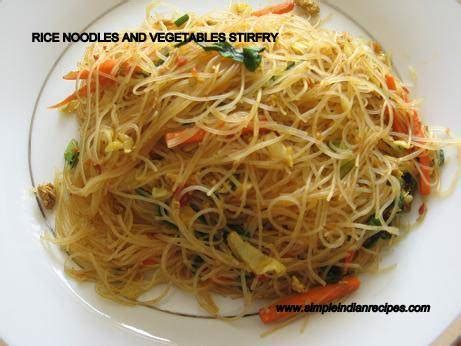 recipes for rice noodles vegetarian noodles and vegetables stir fry simple indian recipes