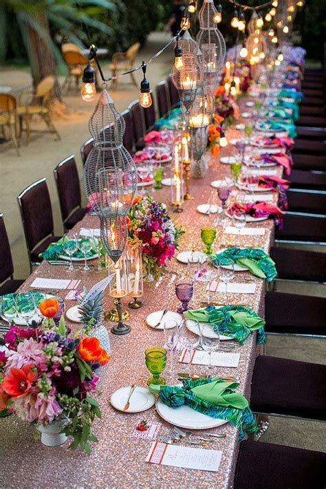 colorful wedding palm springs colorful wedding tablescape wedding