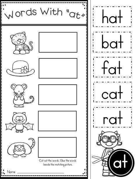 wa pattern words free word family worksheets cupcake pinterest
