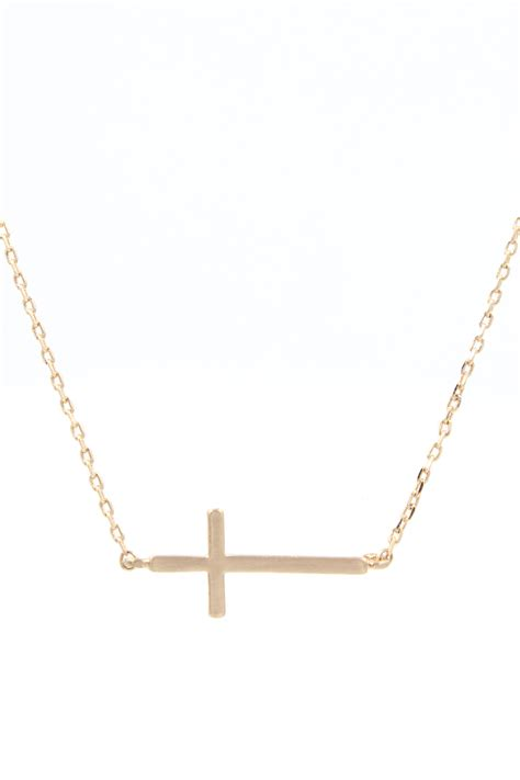 Handmade Cross Necklace - handmade brass cross necklace necklaces
