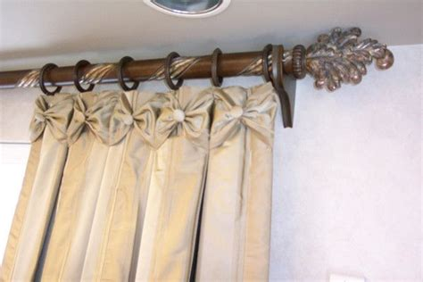 bow curtains bow tie drapes window treatments pinterest
