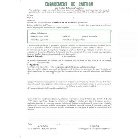 Contrat Location Meublée Gratuit by Acte De Caution Solidaire Exacompta Liasses Pour Locaux
