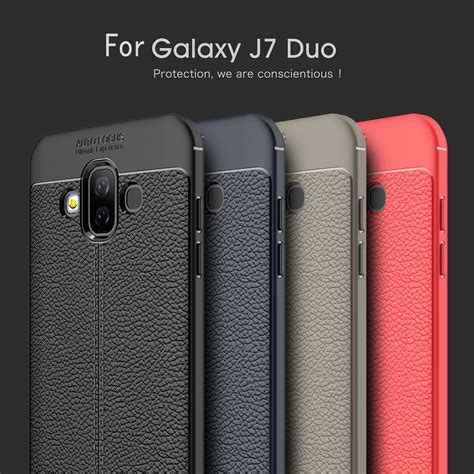 for samsung galaxy j7 duo luxury leather texture soft