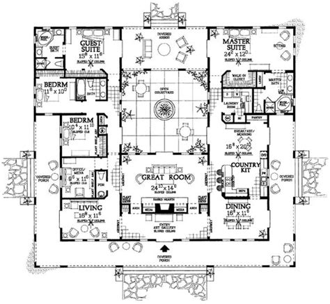 4 bedroom ranch style home plans ranch style house plans 3163 square foot home 1 story
