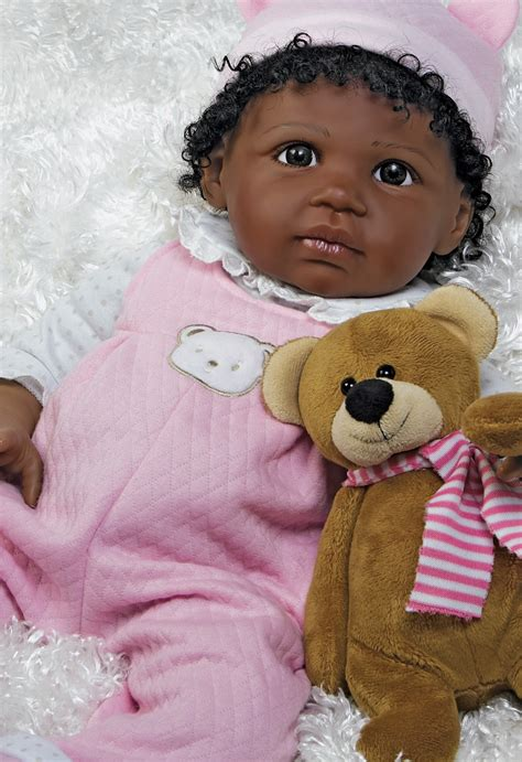 black doll uk real looking american baby doll bailey 20 inch