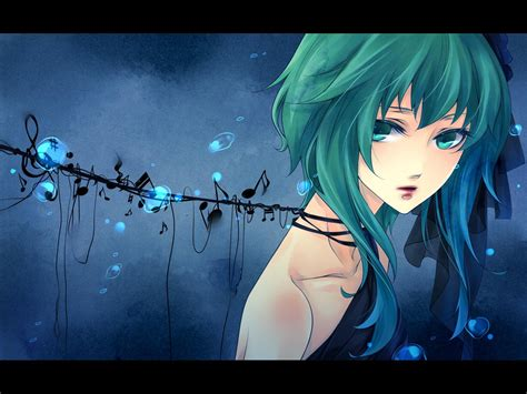 wallpaper blue hair anime girl blue hair enjoy the music wallpapers hd