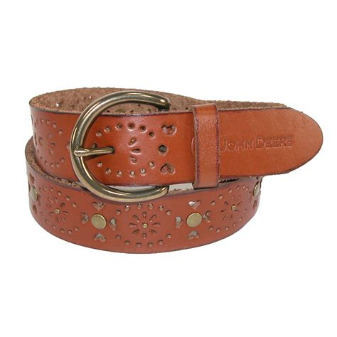 womens leather removable buckle edge bridle belt by