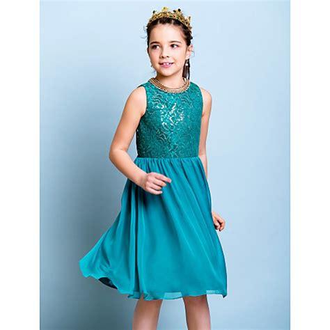 junior bridesmaid dresses color jade knee length chiffon sequined junior bridesmaid dress