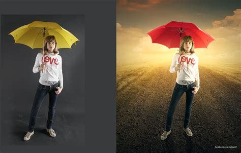 background changer change background adding light effects photoshop