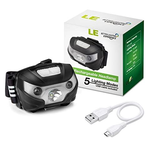 le baladeuse led rechargeable le led headl flashlight rechargeable headlights usb cable import it all