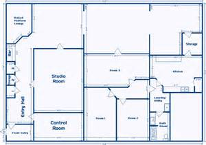 Floor Plan Furniture Store layout of studio facility for sale or lease