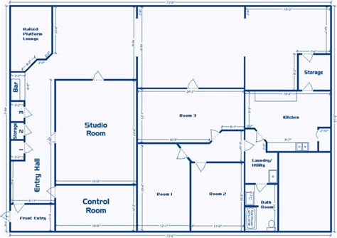 Electrical Plan by Layout Of Studio Facility For Sale Or Lease