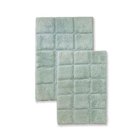 Non Skid Bath Rug by Luxurious Cotton Non Skid 2pc Checkered Bath Rug Set