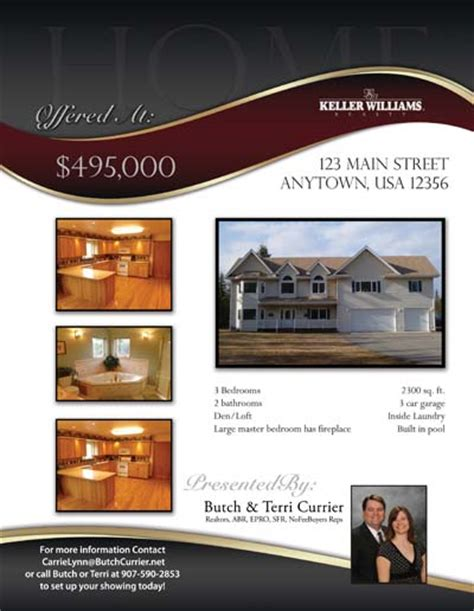 real estate listing flyer template free property listing flyers real estate marketing designed