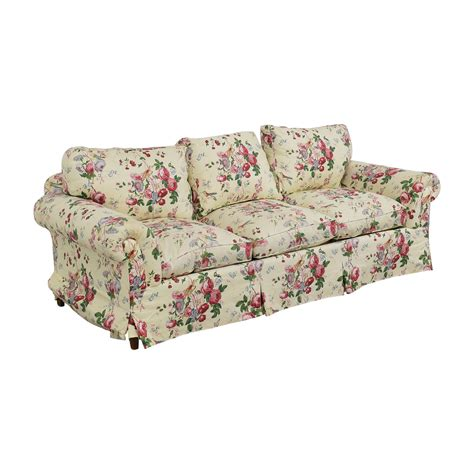 floral sofas for sale 90 floral on white three cushion sofa with curved