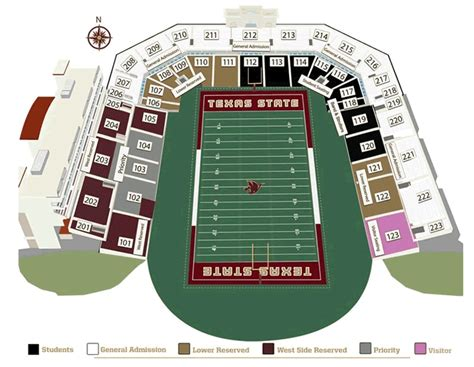 university of texas stadium map texas state bobcats 2014 football schedule
