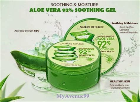 Harga Nature Republic Aloe Vera Soothing Moisture Cleansing Gel Foam stationz soothing moisture aloe vera