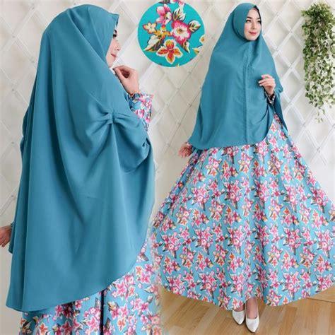 Baju Gamis Wanita Gamis Katun Jepang Gamis New York Set baju gamis katun jepang motif bunga newdirections us