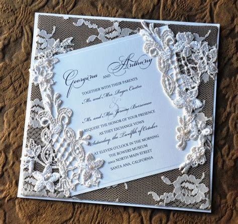 how to make lace wedding invitation cards cool wedding invitation diy wedding invitations lace