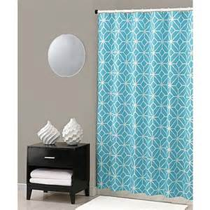 buy 174 trellis shower curtain in turquoise from
