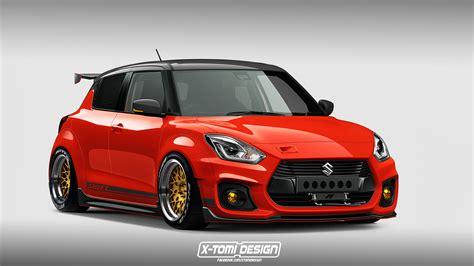 How about a 'slammed' widebody Suzuki Swift Sport modjob?