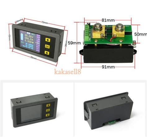 Wattmeter Kwh Meter Dc dc 0 120v 50a lcd combo meter wireless voltage current kwh watt meter 12v 24v 48v capacity solar