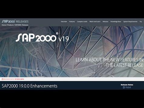 tutorial sap2000 v19 descargar instalar y activar sap20000 v19 32 64bit doovi