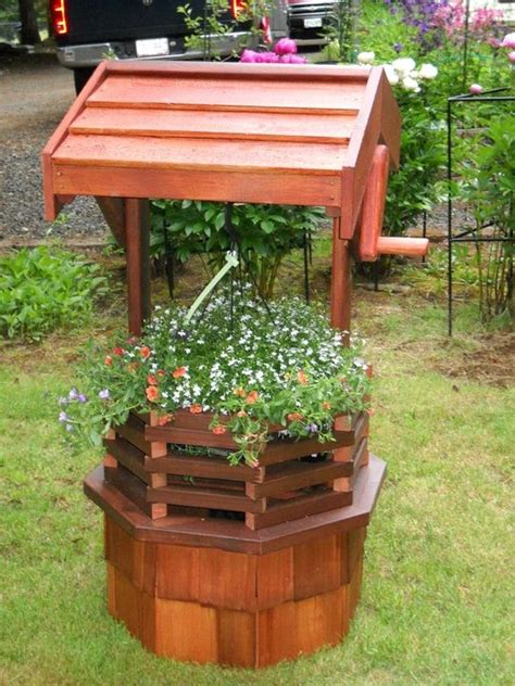 Wishing Well Planters by How To Build A Wishing Well Planter Woodworking Projects