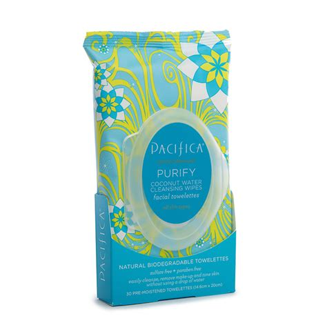 Pacifica Detox Wipes by Pacifica Purify Coconut Water Cleansing Wipes Bath