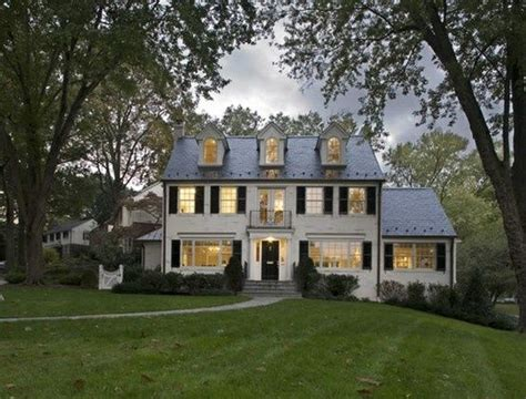 white colonial homes center hall colonial night fall jpg 554 215 421 house
