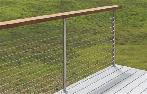 Handrail Cable Systems sunrail latitude stainless steel cable railing system with a wooden handrail atlantis rail