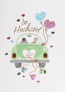 Just Married Auto Karte by Gl 252 Ckwunschkarte Quot Zur Hochzeit Quot 12x17 Auto Just Married