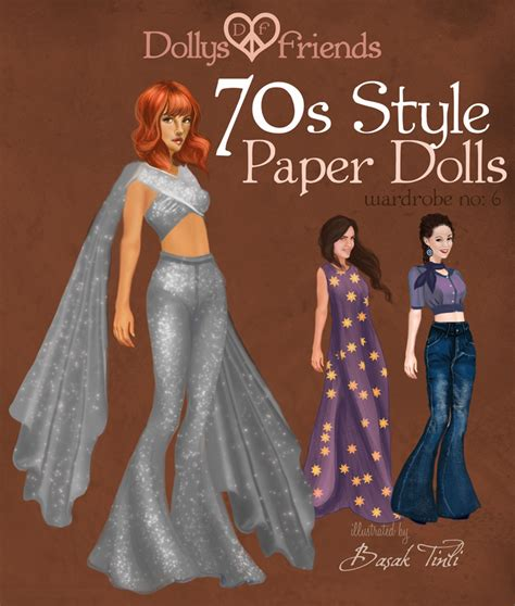70s fashion doll dollys and friends 70s style fashion paper dolls by